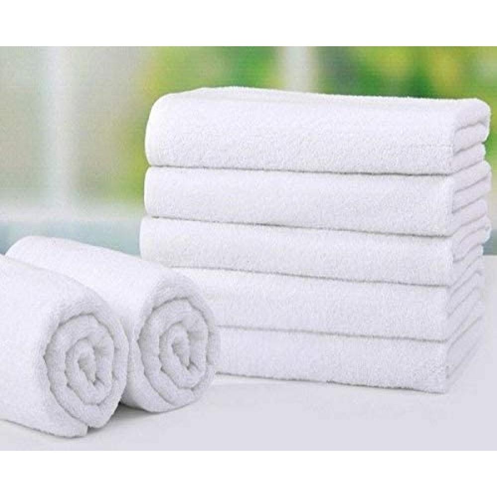 Белое махровое полотенце пл. 430 г/м2